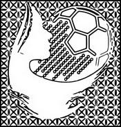 Målarbok Damfotboll