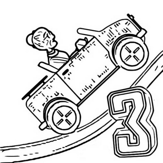 - Coloring Page Hill Climb Racing : Grandmother 2