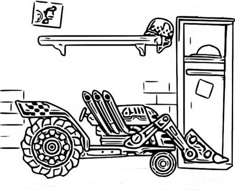 malvorlagen hill climb racing  traktor 7