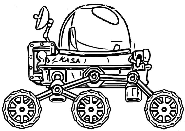 - Coloring Page Hill Climb Racing : Moonlander 9
