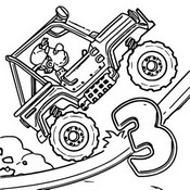 Coloring page Super Jeep