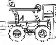 Dibujo para colorear Chevrolet Silverado Monster Truck