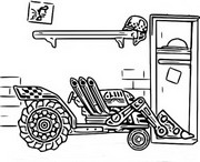 Fargelegging Tegninger Traktor
