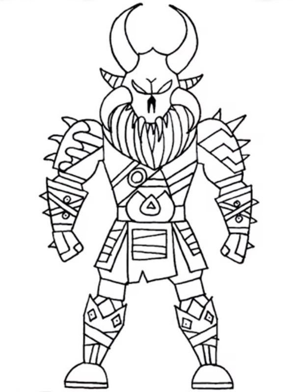 Dibujo Para Colorear Skins De Fortnite Legendarias Ragnarok 5