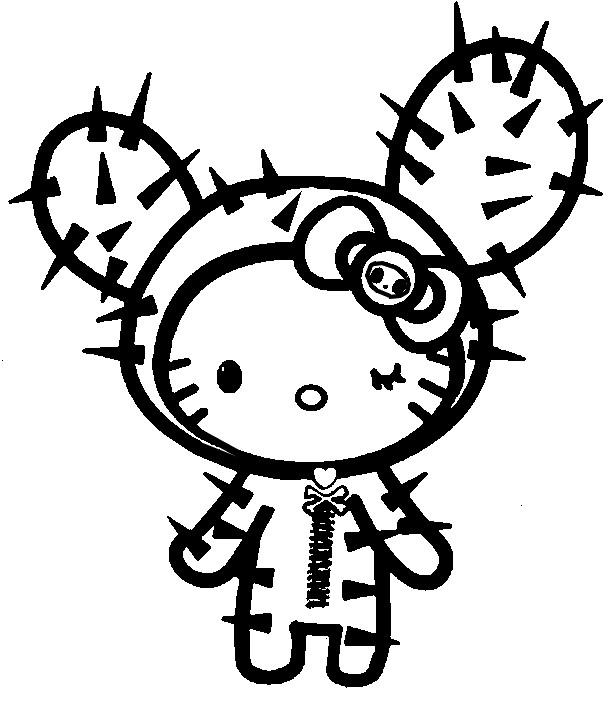 Dibujo Para Colorear Tokidoki Cactus 3