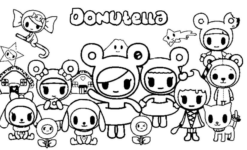 Coloring Page Tokidoki : Donutella 8
