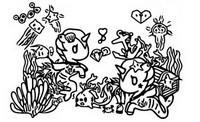 Desenho para colorir Mermicorno