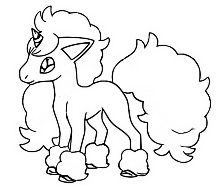 Coloring page Galarian Ponyta - Pokémon Sword and Shield Galarian Forms