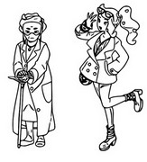 Coloring page Professor Magnolia and Sonia