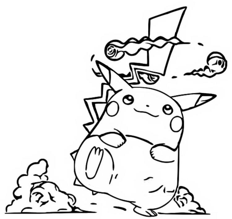 Coloring Page Gigantamax Pokemon Gigantamax Pikachu 3