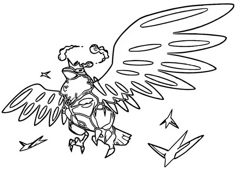 Coloring Page Gigantamax Pokemon Gigantamax Corviknight 6