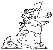 Kleurplaat Gigantamax Pikachu