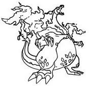 Desenho para colorir Gigantamax Charizard