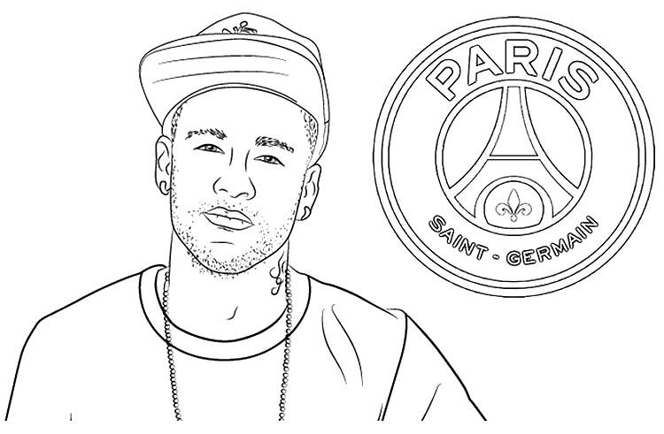 dibujo para colorear liga de campeones 2020  neymar jr