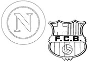 Coloring page Round of 16 :  SSC Napoli - FC Barcelona