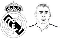 Coloring page Karim Benzema - Real Madrid