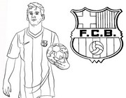 Coloring page Lionel Messi - FC Barcelona
