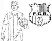 Disegno da colorare Lionel Messi - FC Barcelona