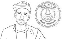 Disegno da colorare Neymar Jr. - PSG