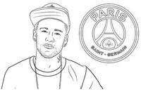 Desenho para colorir Neymar Jr. - PSG