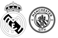 Dibujo para colorear Octavos de final : Real Madrid CF -  Manchester City