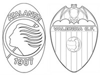Malvorlagen Achtelfinale : Atalanta Bergamo - Valencia CF