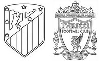 Dibujo para colorear Octavos de final : Atletico de Madrid - Liverpool FC