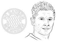 Malvorlagen Bayern - Robert Lewandowski