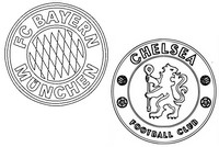 Coloring page Round of 16 : FC Bayern München - Chelsea FC
