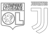Coloring page Round of 16 : Olympique Lyonnais - FC Juventus