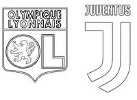 Disegno da colorare Round di 16 : Olympique Lyonnais - FC Juventus