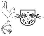 Desenho para colorir Oitavas de final : Tottenham Hotspur FC - RasenBallsport Leipzig