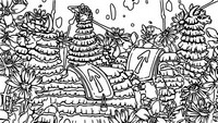 Coloring page Llamafields Loading Screen