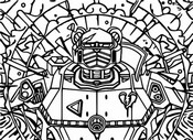 Coloring page Mecha Loading screen