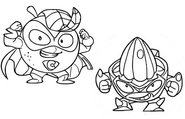 Desenho Para Colorir Superzings Mr C Vs Jack The Juicer 1