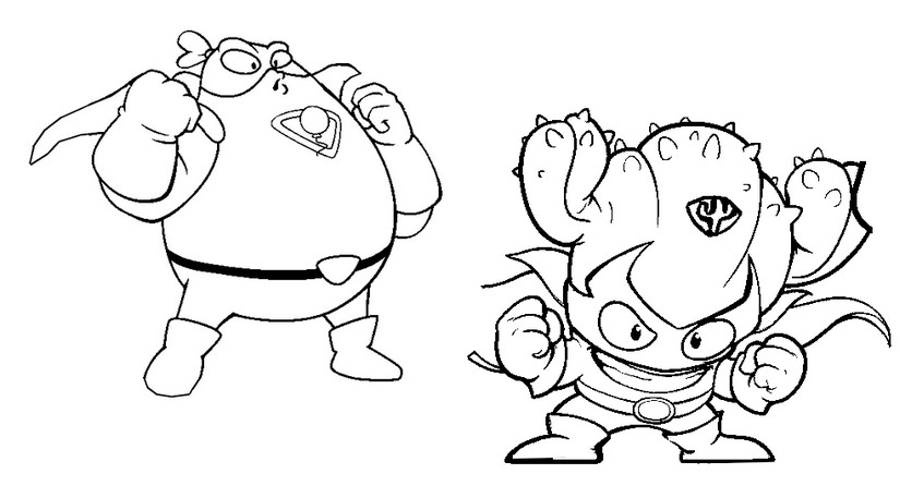 Coloring page Superzings : Airblast vs Kactor 5