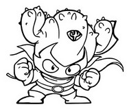 Coloring page Kactor