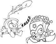 Coloring page Pop Corn vs Sugar Rush