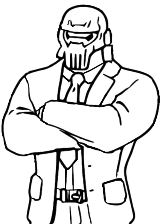 Coloring page Fortnite Chapter 2 Season 2 : Brutus Ghost 4