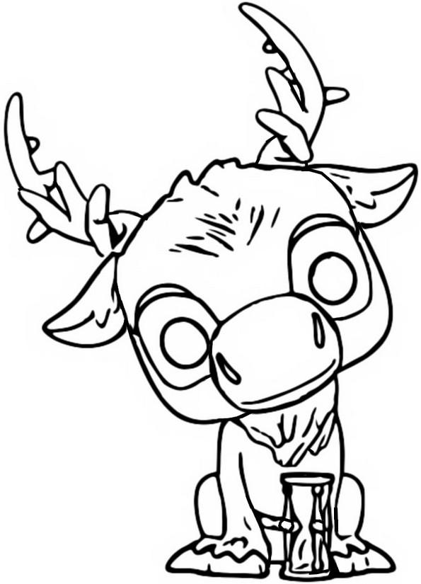 Desenho Para Colorir Funko Pop Frozen 2 Sven 2