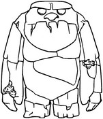 Coloring page Earth giant