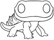 Desenho para colorir Salamandra de espírito de fogo