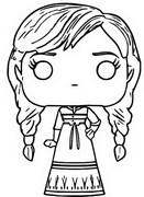 Coloring page Anna