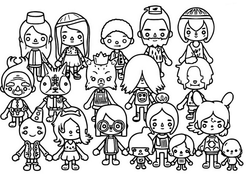 Coloring page City - Characters - Toca Life