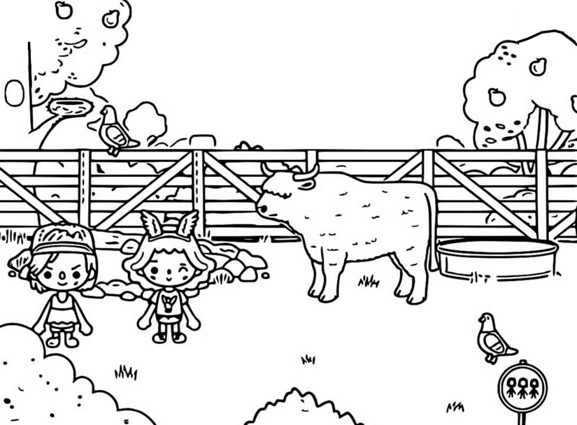 Coloring page Farm - Toca Life