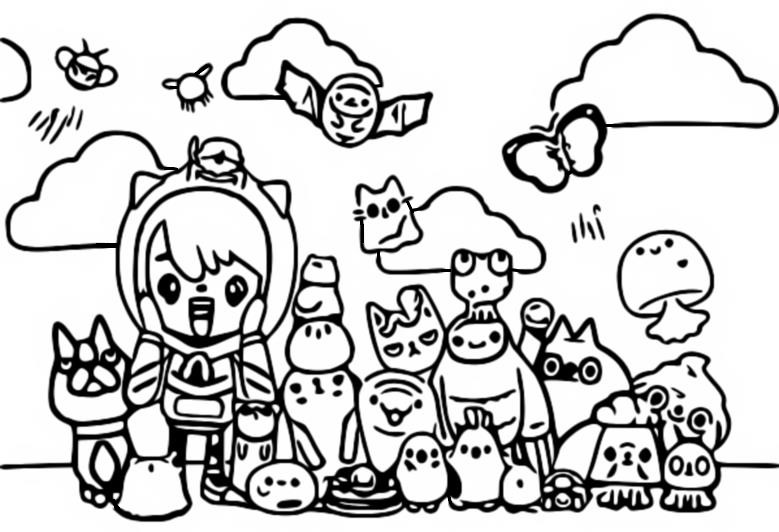 Coloring page Pets - Toca Life