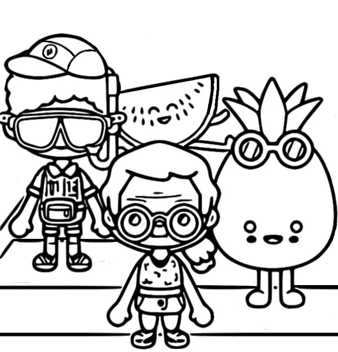 Coloring page Vacation - Toca Life