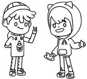 Coloring page Leon and Zeke