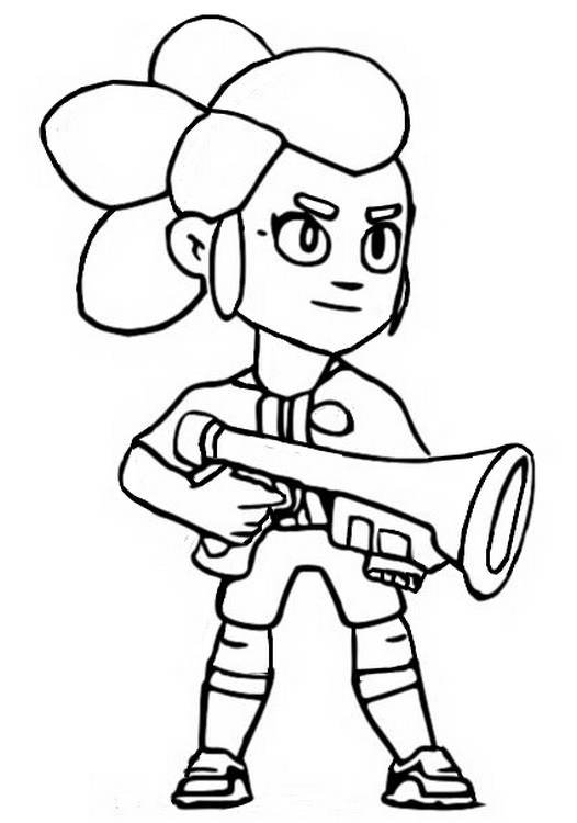 Coloring page PSG Shelly - Brawl Stars March 2020 Update