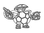 Coloring page Mascott Darryl